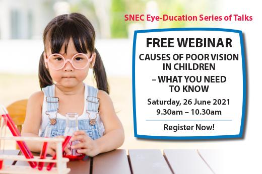 SNEC Causes of Poor Vision in Children Webinar