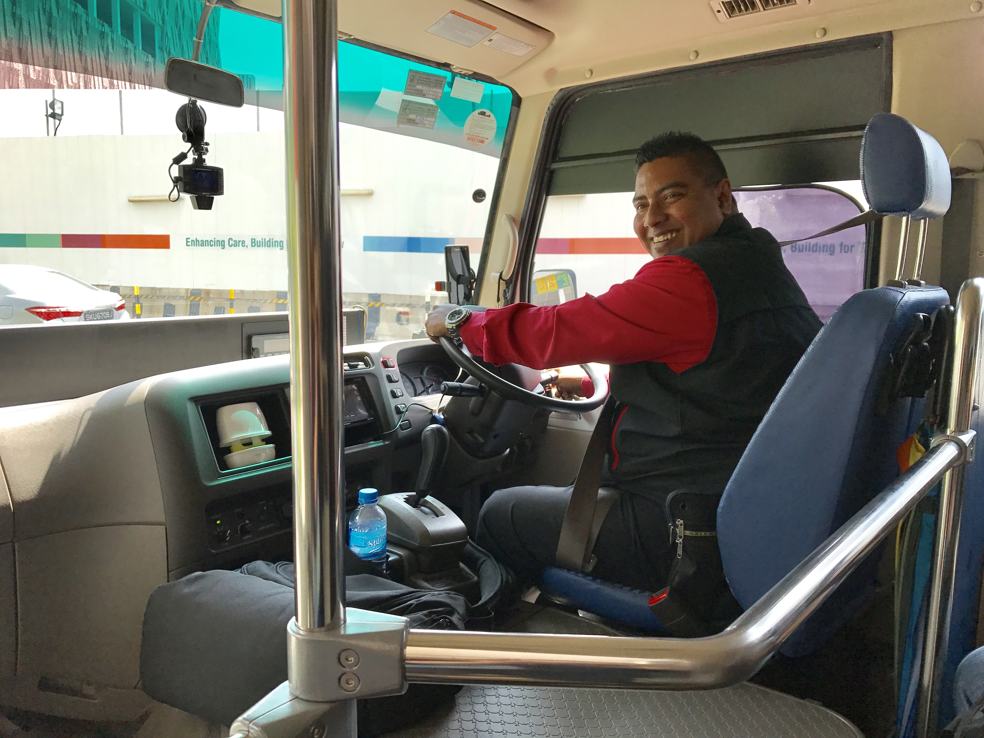Feroz Bin Abdul Rahman has been a shuttle bus driver with SingHealth for more than 4 years.
