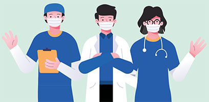 healthcare workers illustration